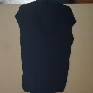 LB Black Short Sleeve Blouse